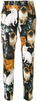 Dolce & Gabbana cat print cropped trousers