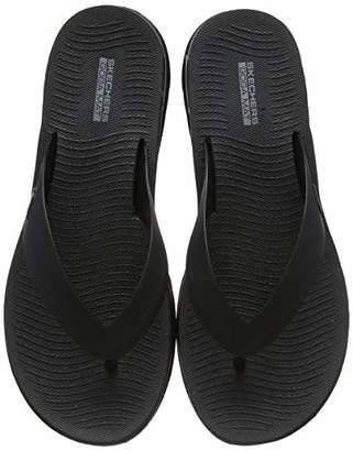 Skechers Women's Jelly 3 Point Sandal W/Molde Flip Flops, (Black BBK), 7 (40 EU)