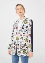 MANGO Floral Jacquard Blazer