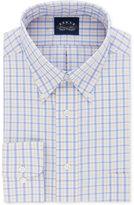 Eagle Men's Classic-Fit Non-Iron Stretch Collar Cornflower Check Dress Shirt