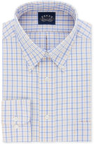 Eagle Men's Classic/Regular Fit Non-Iron Stretch Collar Cornflower Check Dress Shirt