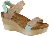 Naot Footwear Women's Sandals Khaki - Khaki Beige & Celadon Miracle Leather Sandal Wedge - Women