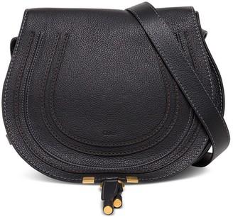 Chloé Marcie Crossbody Bag In Black Leather