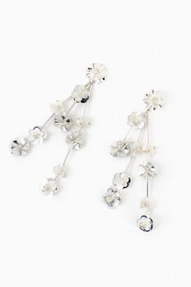 Mignonne Gavigan Silver and White Britta Earring