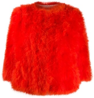 Yves Salomon 3/4 Sleeved Fur Jacket