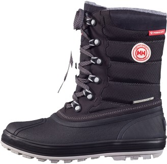 Helly Hansen Women's Tundra Cold Weather Waterproof Winter Boot with Grip Jet Black/Charcoal 5.5