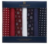Osborne Pack Of Seven Cotton Handkerchiefs