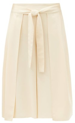 See by Chloe High-rise Belted Crepe Culottes - Cream