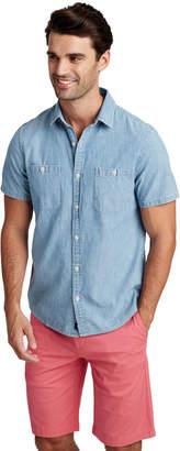 Vineyard Vines Slim Short-Sleeve Chambray Dockside Murray Shirt