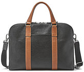 Fossil Mayfair Leather Double Zip Laptop Work Bag