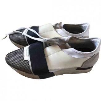Balenciaga Race White Leather Trainers
