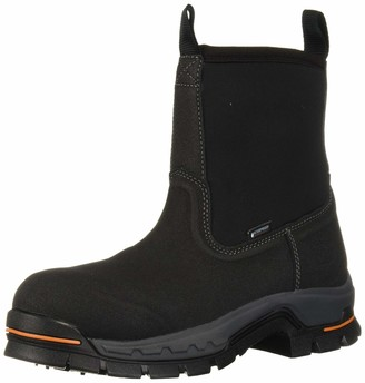 """Timberland Men's Stockdale 8"""" Pull On Alloy Safety Toe Waterproof Industrial Boot"""