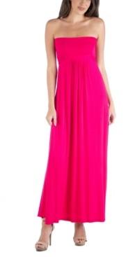 24seven Comfort Apparel Sleeveless Maxi Dress with Empire Waist and Belt Detail