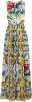 Dolce & Gabbana Printed silk gown