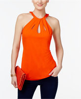 INC International Concepts Petite Cutout Halter Top, Created for Macy's