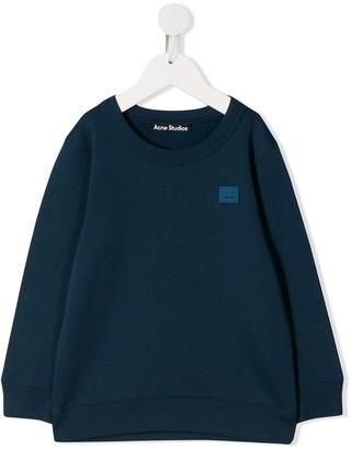 Acne Studios Mini Fairview face motif sweatshirt