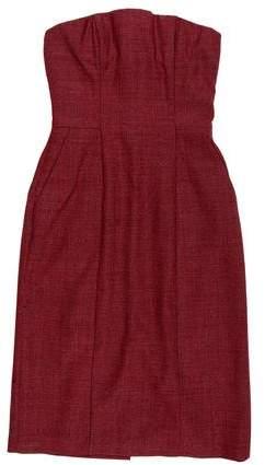 Alexander McQueen Wool Strapless Dress w/ Tags