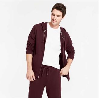 Joe Fresh Men's Active Essential Hoodie, Burgundy (Size XS)