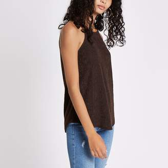 River Island Womens Brown textured loose top