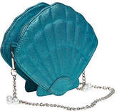 Joe Browns Womens Shell Handbag with Chain Strap and Pearl Embellishment Blue
