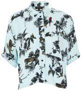 Topshop Short sleeve jungle print shirt