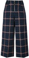 Dondup checked cropped trousers - women - Cotton/Polyamide/Spandex/Elastane - 40
