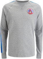 Billionaire Boys Club Men's Approach and Landing Raglan Crew Neck Sweatshirt Heather Grey/Blue