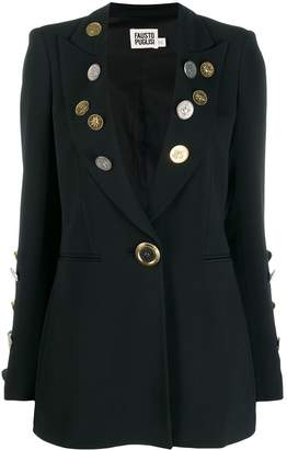 Fausto Puglisi Coin Embellished Blazer