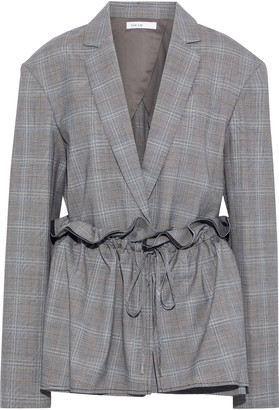 ADEAM Gathered Layered Prince Of Wales Checked Woven Jacket