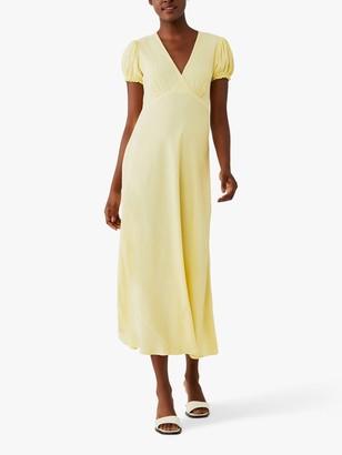 Ghost Poet Crepe Wrap Front Midi Dress