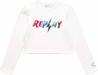 Replay Girl's Sg7140.050.22820 T-Shirt