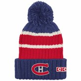 Reebok Montreal Canadiens CCM Team Stripe Cuffed Pom Toque