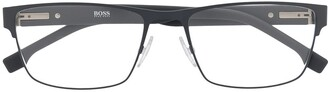 HUGO BOSS Rectangular Frame Optical Glasses
