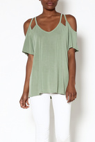 Entro Olive Plunge Top