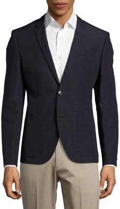 HUGO BOSS Red Alesono Modern Fit Linen-Blend Blazer
