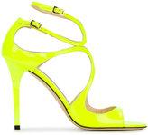 Jimmy Choo Shocking Yellow Lang Heeled Sandals
