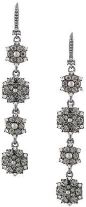 Marchesa Drop Flower-Cluster Earrings