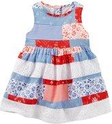 Osh Kosh Patchwork Print Dress (Baby) - Print - 24 Months