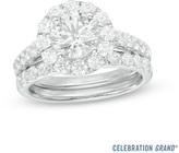 Zales Celebration Grand® 2-1/2 CT. T.W. Diamond Frame Bridal Set in 14K White Gold (H-I/I1)