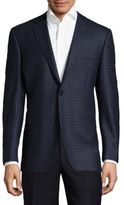 Canali Patterned Wool Spotcoat