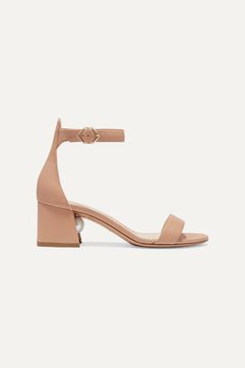 Nicholas Kirkwood Miri Faux Pearl-embellished Leather Sandals - Neutral