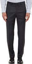 Incotex Men's B-Body Classic-Fit Wool Trousers-DARK GREY