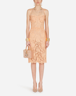 Dolce & Gabbana Lace Bustier Midi Dress