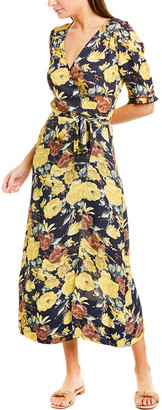 Sea Maxi Wrap Dress