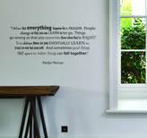 Monroe leonora hammond Marilyn Quote Wall Sticker