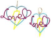 Betsey Johnson Harlem Shuffle Love Earrings