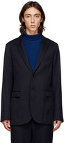 Thumbnail for your product : Blue Blue Japan Navy Wool Rainfall Stripe Blazer