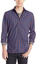 Stone Rose Men's Tartan Long Sleeve Button Down Shirt