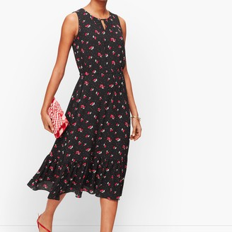 Talbots Cherry Print Fit & Flare Dress