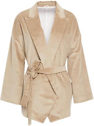 Brunello Cucinelli Belted Cotton And Cashmere-blend Corduroy Blazer